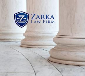 Zarka Law Firm logo with pillars